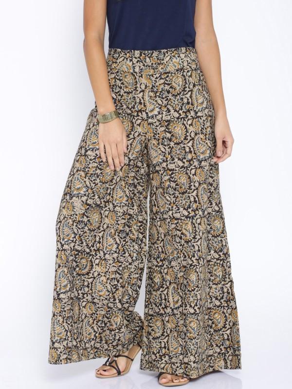 Rigoglioso Regular Fit Womens Multicolor Trousers