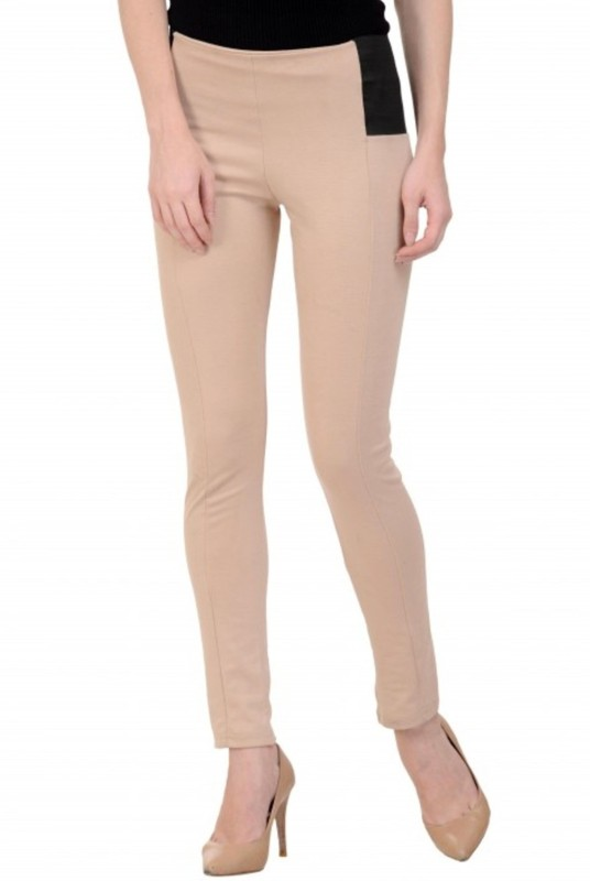Raabta Fashion Regular Fit Womens Beige Trousers