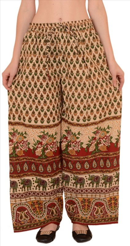Skirts & Scarves Regular Fit Women's Beige Trousers