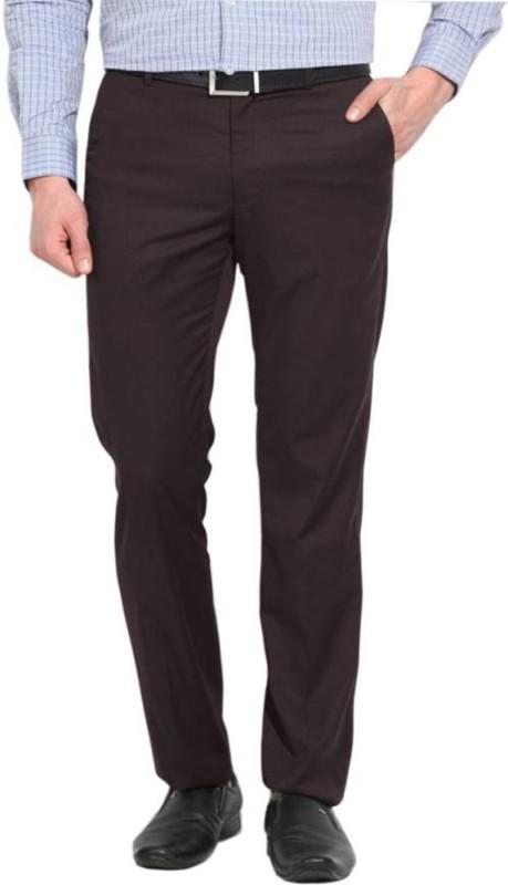 AD & AV Regular Fit Men's Brown Trousers