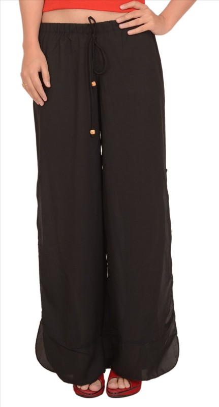 Skirts & Scarves Regular Fit Women's Black Trousers