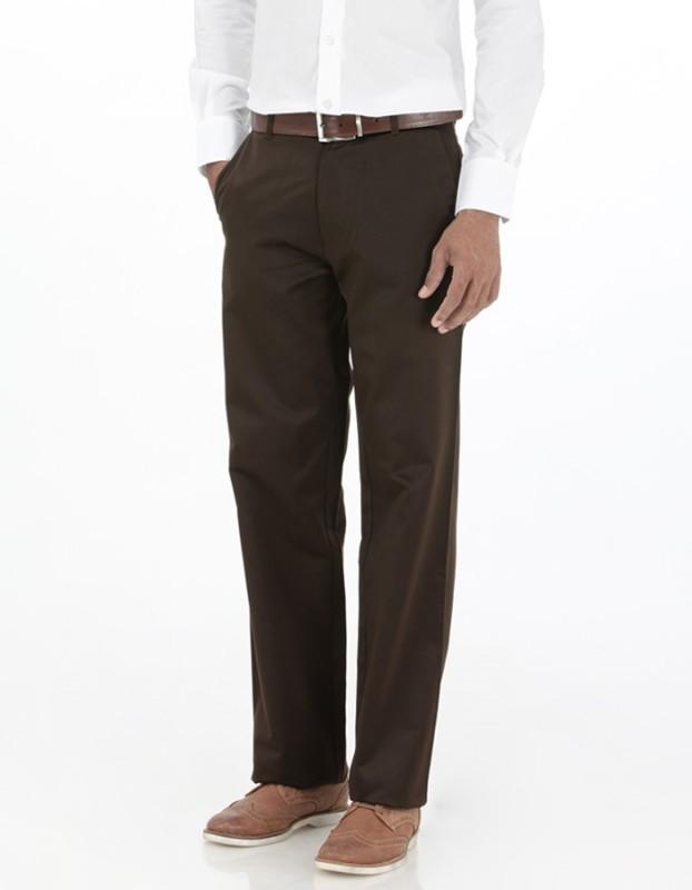 Basics Regular Fit Men's Brown Trousers