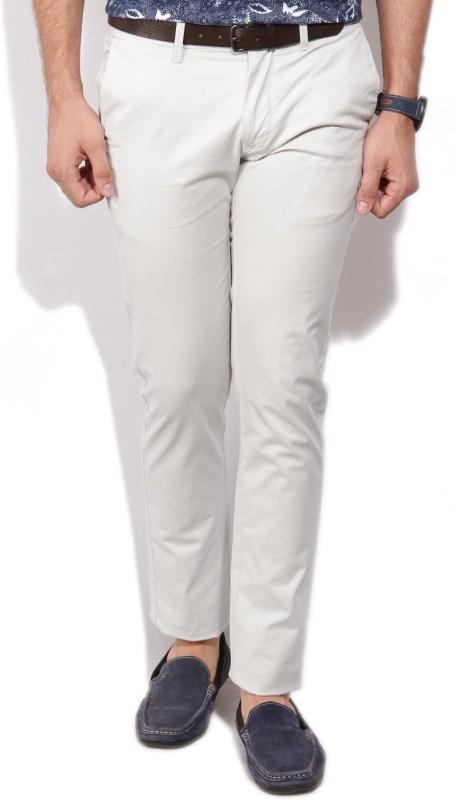 Indian Terrain Slim Fit Men's Grey Trousers
