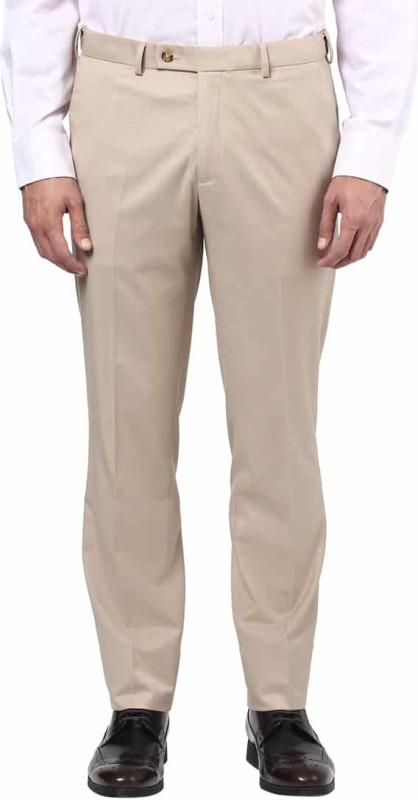 Park Avenue Regular Fit Mens Beige Trousers