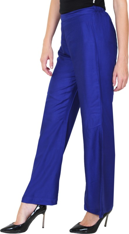 1To9 Regular Fit Womens Blue Trousers