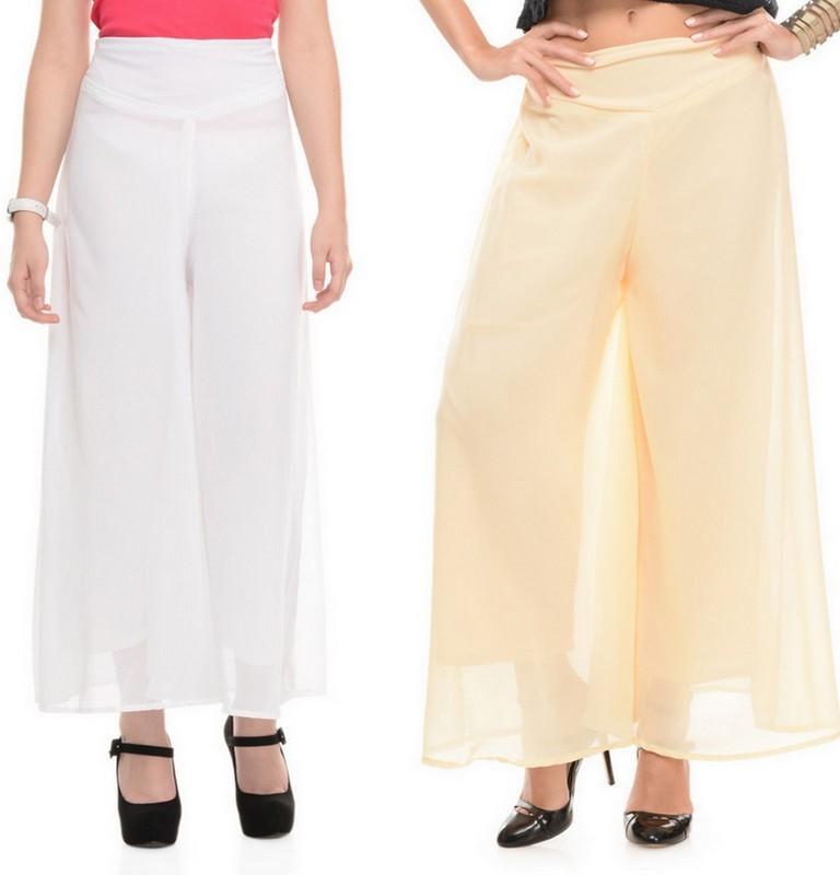 Stop Look Regular Fit Women White, Beige Trousers