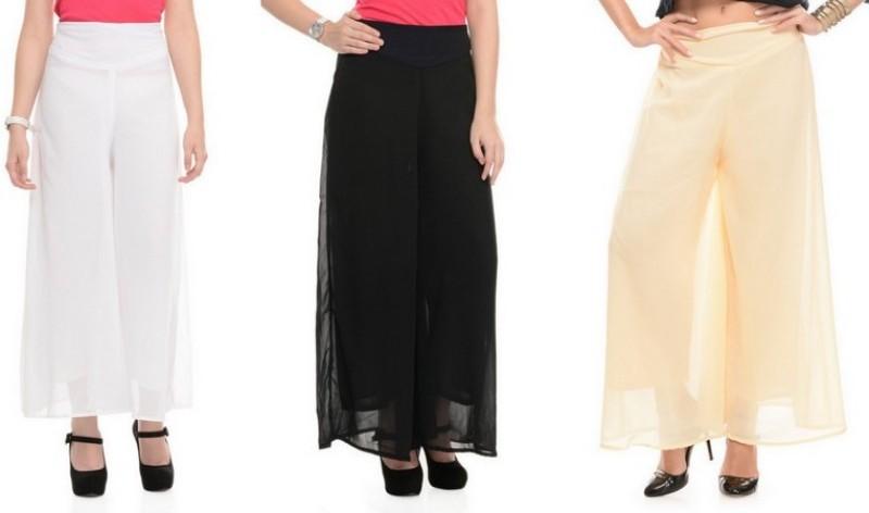 Stop Look Regular Fit Women Black, Beige, White Trousers