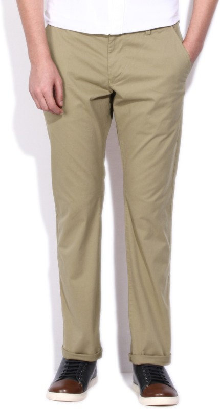 French Connection Regular Fit Mens Brown Trousers