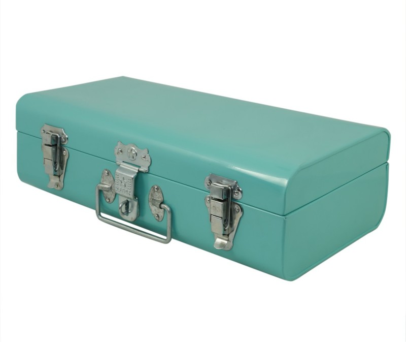 Elan Metal Trunk(Finish and Fabric Color - Green)
