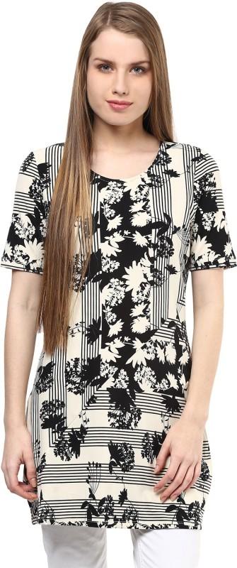 109F Floral Print Womens Tunic