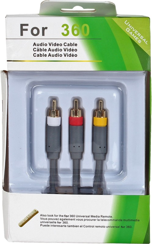 Universal Games  TV-out Cable AV XBOX-360(Grey, For Xbox, 2 m)
