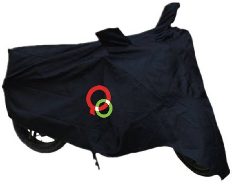 Queenoverseas Two Wheeler Cover for Bajaj(Pulsar 150, Black)