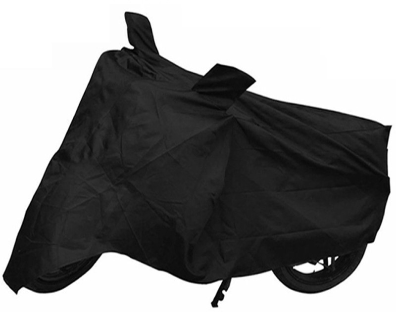 VMA SHOPPERS Two Wheeler Cover for Hero(SS, Black)