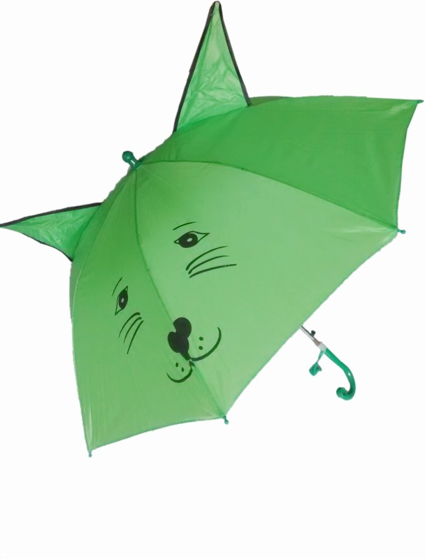 Fiable Creations Green 18 Radius Kids Umbrella(Green)