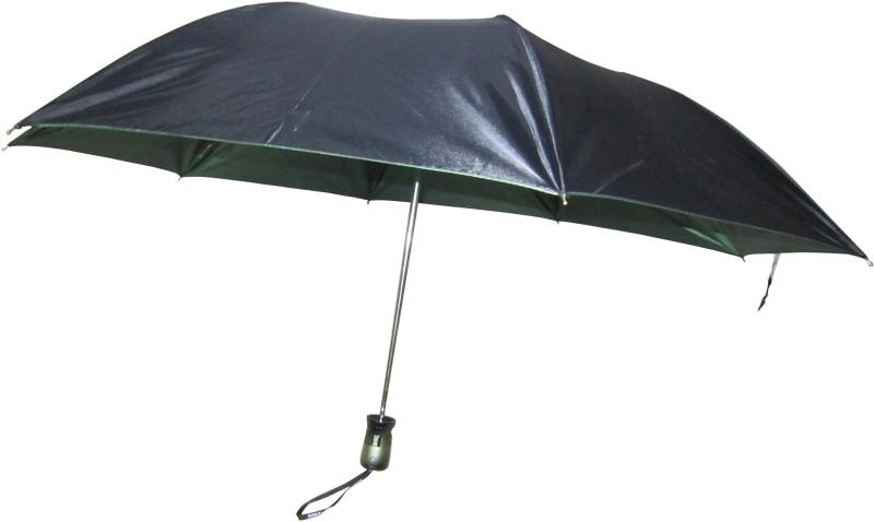 Fendo Avon shine_B 2 Fold black color Umbrella(Black)