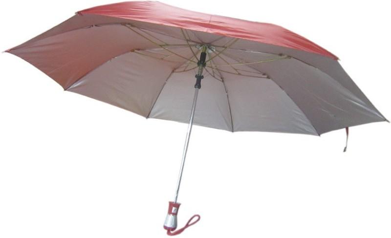 Fendo Auto Open 2 Fold Nylon Women Strawberry _f Umbrella(Red)