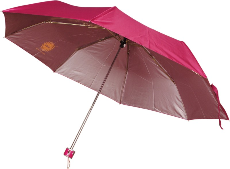 Bs Spy Pakiza Nylon Pink 3 Foldd Pack Of 2 Umbrella(Pink)