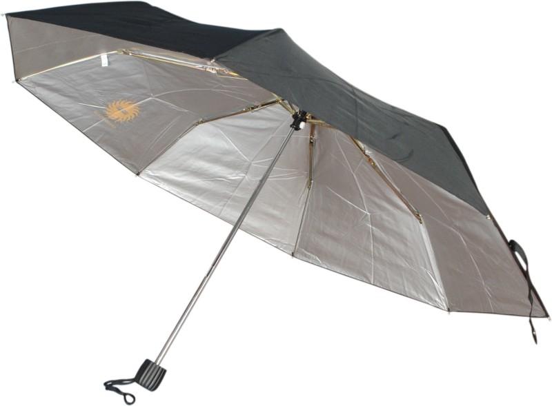 Bs Spy Pakiza Nylon Black 3 Foldd Pack Of 2 Umbrella(Black)