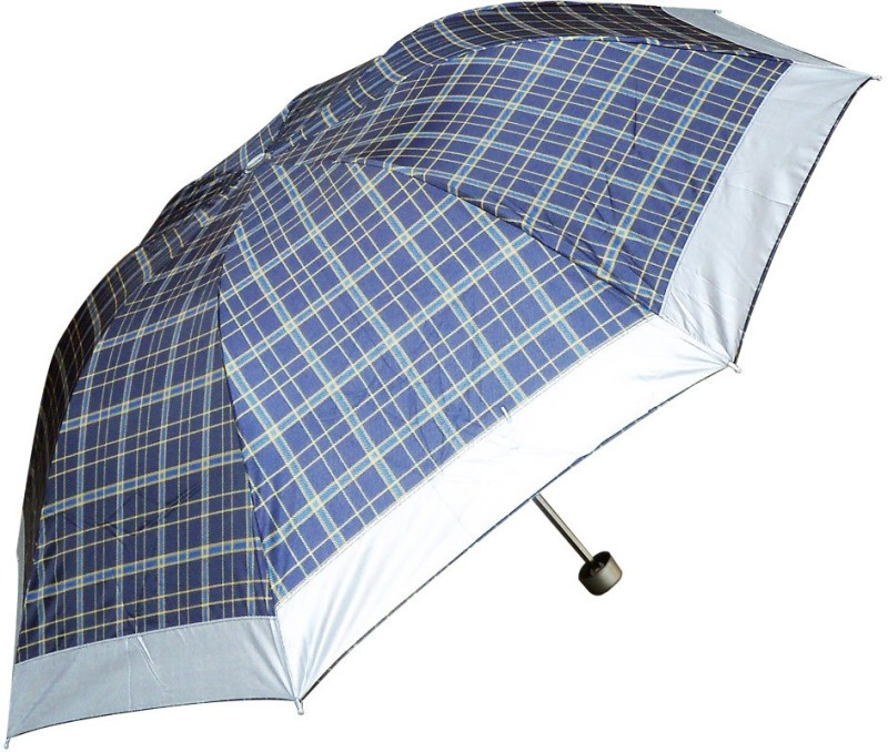 PeepalComm Umb2lineyel Umbrella(Blue, Grey)