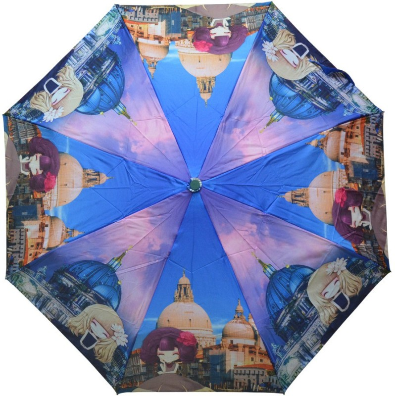 Murano 3 Fold Auto Open RST Print Design 400156_D Stylish Umbrella(Multicolor)