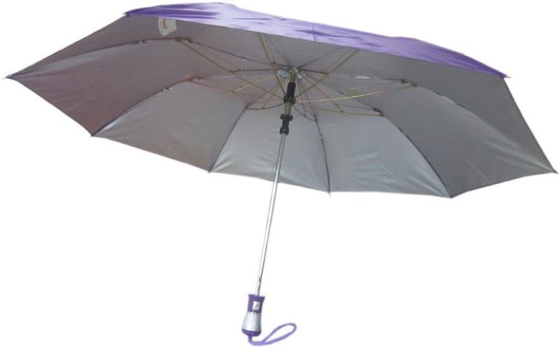 Fendo Auto Open 2 Fold Nylon Women Strawberry _e Umbrella(Purple)