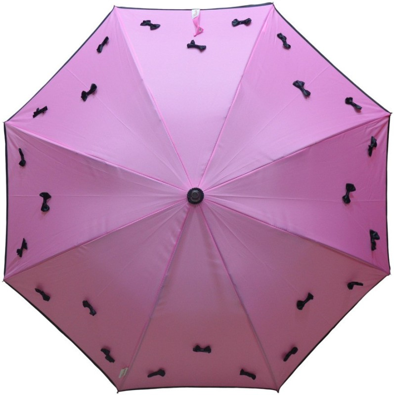 Murano Stright Pink Color Stylish Bow _400167_A Umbrella(Pink)