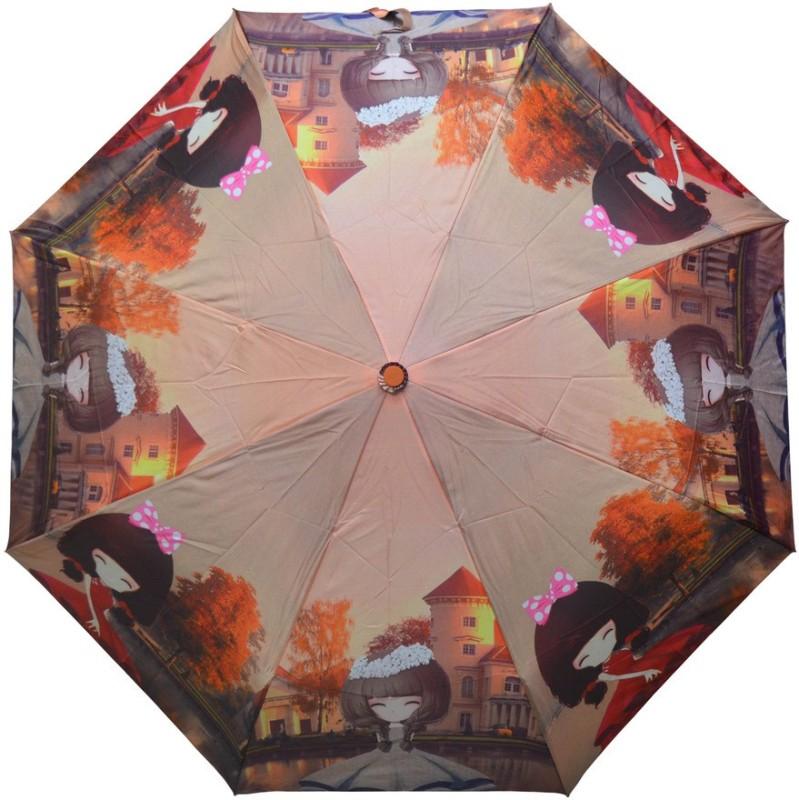 Murano 3 Fold Auto Open RST Print Design 400156_B Beautiful Umbrella(Multicolor)