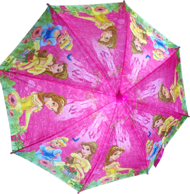 Fiable Creations Princes in Garden Print 18 Radius Kids Umbrella(Pink)