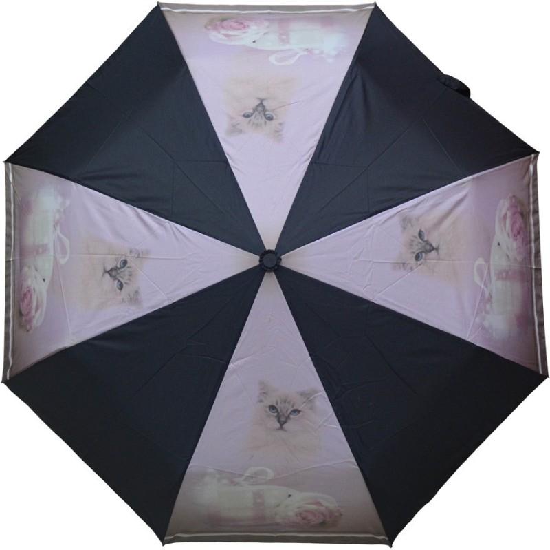 Murano 3 Fold Auto Open RST Print Design Cat on Panel 400157_B Beautiful Umbrella(Multicolor)