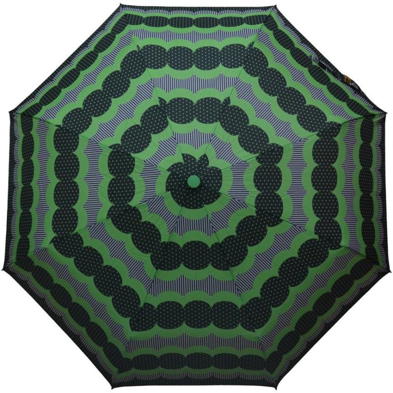 Murano 3 Fold Auto Open Auto Close RST Print Green Color Designer _400160_T Umbrella(Green)