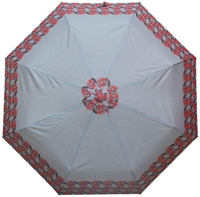 Murano 3 Fold Auto open Auto Close RST Print Multicolor _400160_ZD Beautiful Umbrella(Multicolor)
