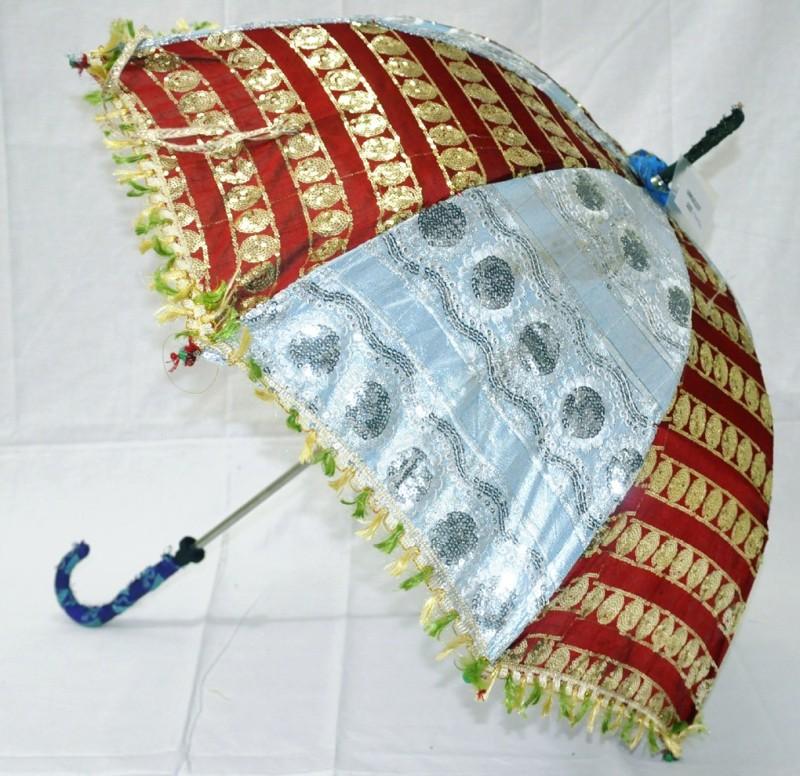 Lal Haveli Womens Fashion Handmade Sun Umbrella(Multicolor)