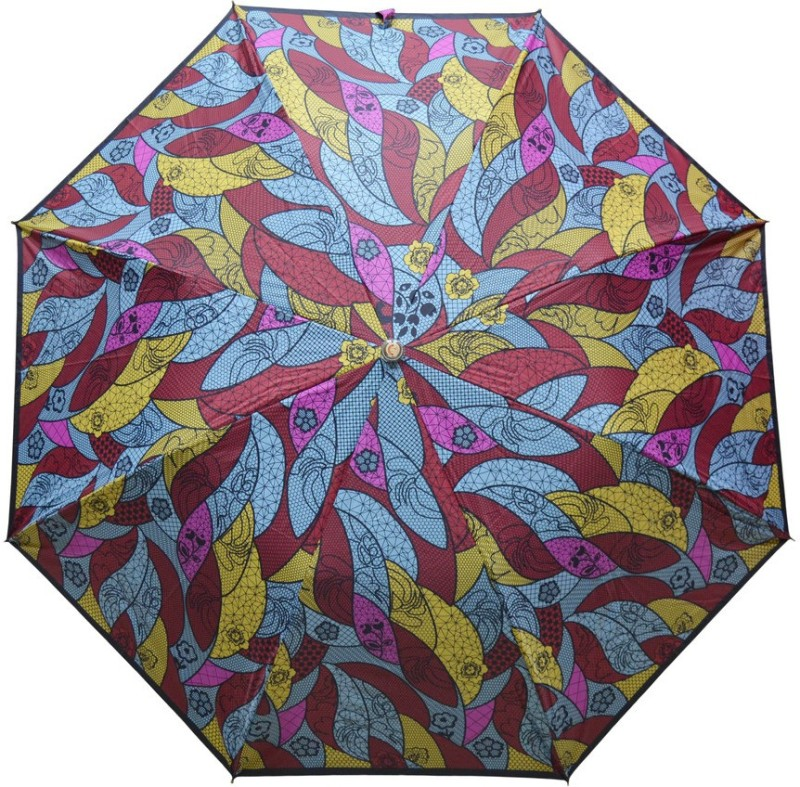 Fendo 2 Fold Auto Open Multi color 400123_C Umbrella(Multicolor)