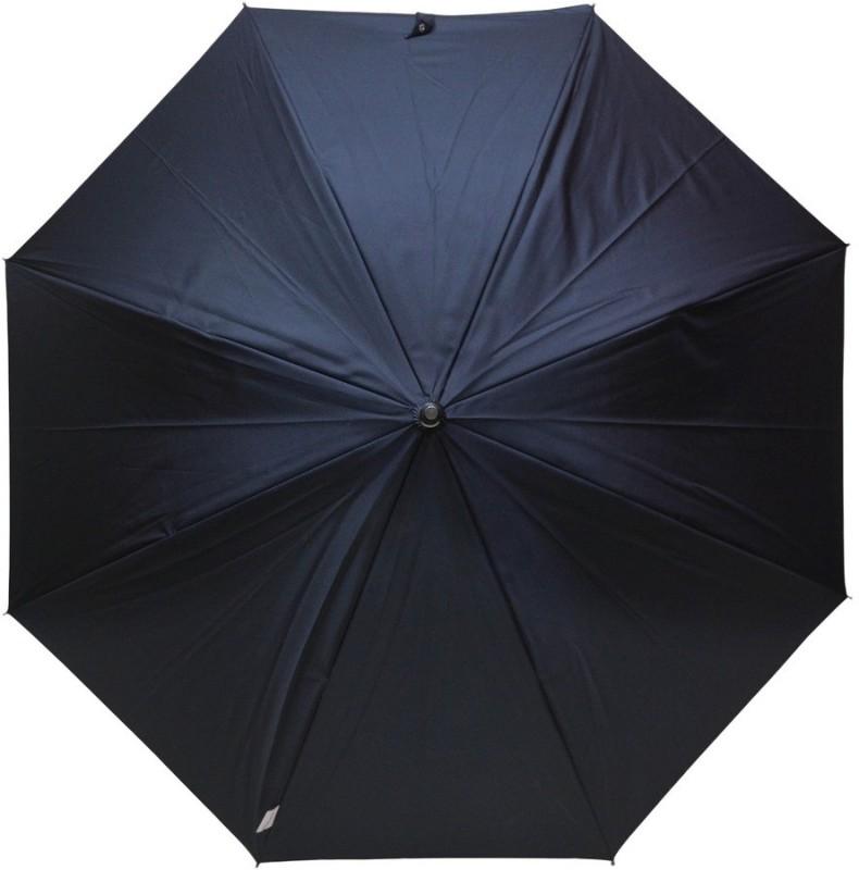 Murano Single Fold Double layer inside flower print Fashion Umbrella(Black)