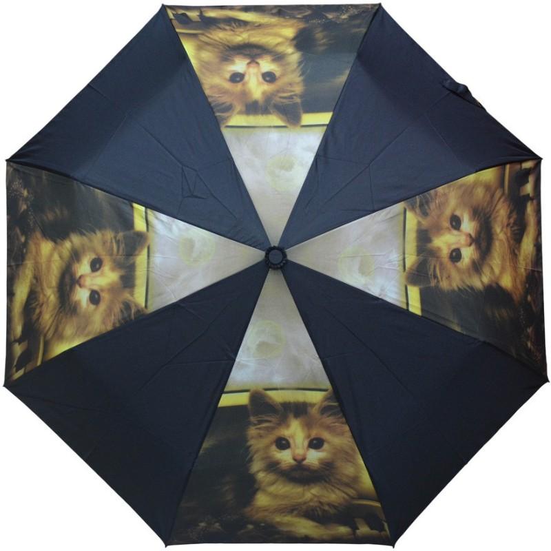 Murano 3 Fold Auto Open RST Print Design Cat on Panel 400157_A Beautiful Umbrella(Multicolor)