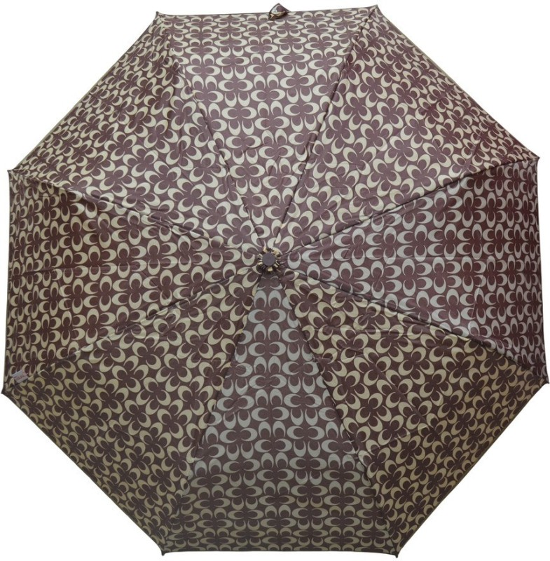 Murano 4 Fold Auto Open Coach Design Brown Color Fashion_400154_C Umbrella(Brown)