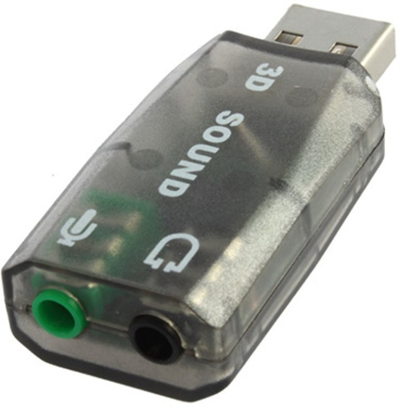 99 Gems World 5.1 Channel 2.0 To 3d Audio USB Adapter(Black)