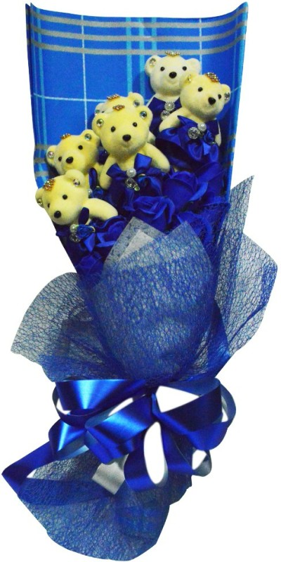 Bird In Blue Love Soap Flower HSFL004 Gift Set