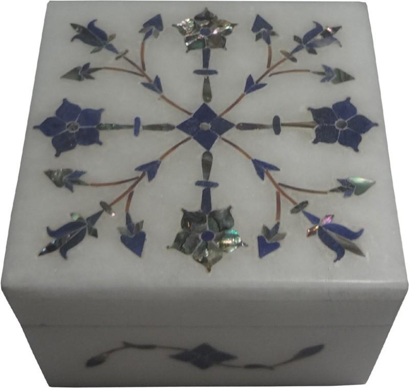 Avinash Handicrafts White Stone inlaid square 3x3
