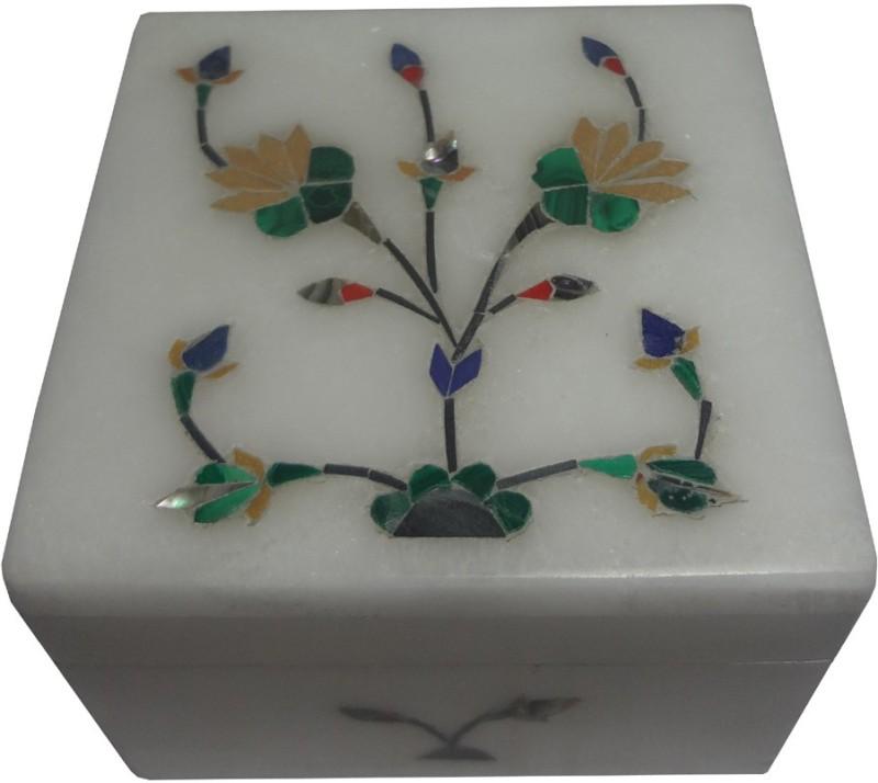 Avinash Handicrafts White Stone inlaid square 2.5x2.5