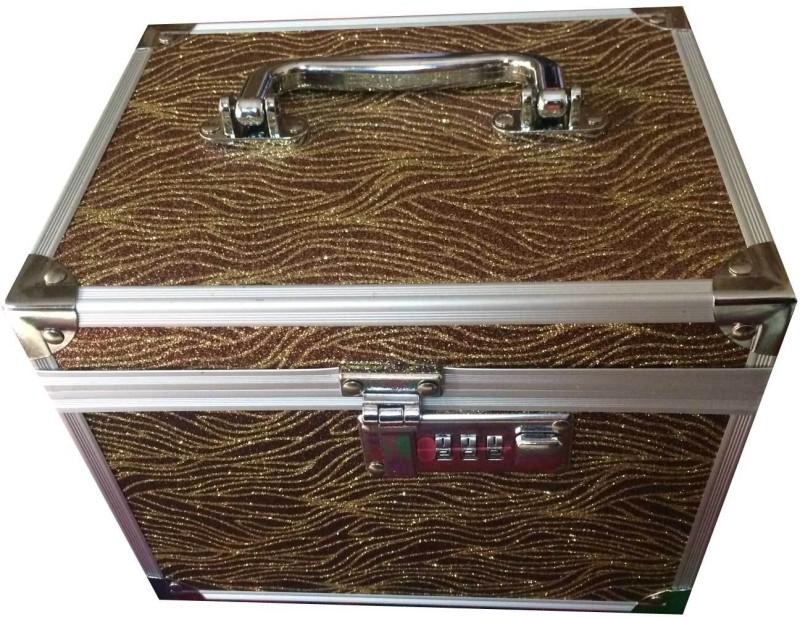 Platinum JD101 Makeup, Jewellery Vanity Box(Brown)