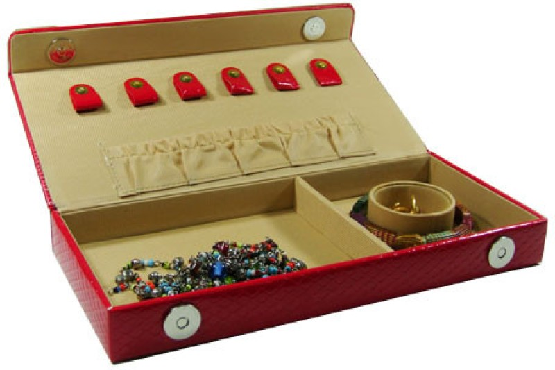 Essart Box 0072A Makeup and Jewellery Vanity Box(Red)