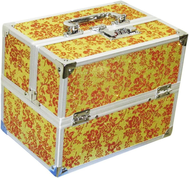 Satisfaction Blossom to store cosmetic items Vanity Box(Yellow)