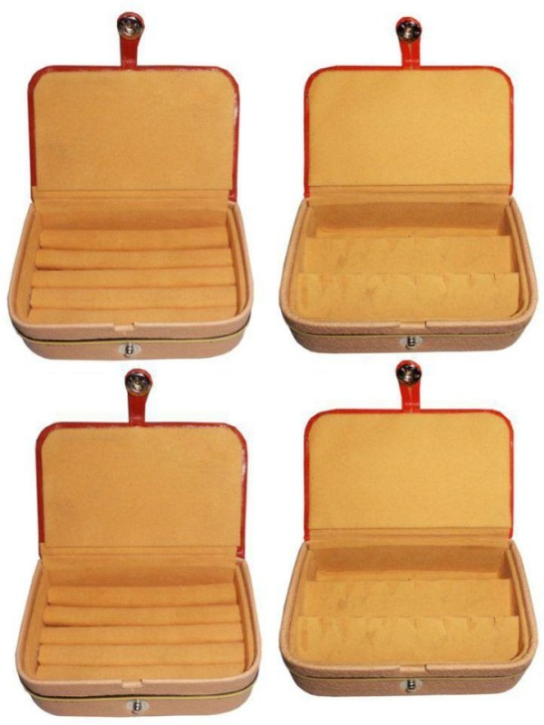 Aadhya comboo of earring and ring pack of 4 keep delicate jewellery safe Vanity Box(Brown)