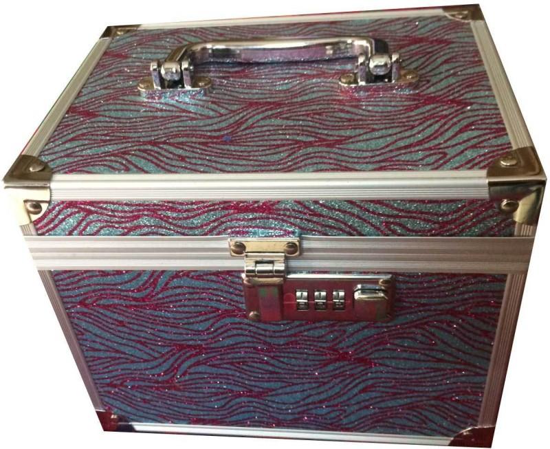 Platinum Shimmer Makeup, Jewellery Vanity Box(Multicolor)