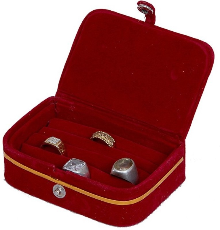 Kuber Industries Velvet Jewellery Vanity Box(Maroon)