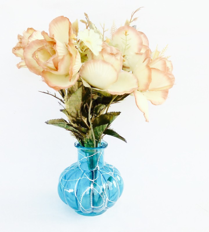 Being Nawab Oceanic Luxorica Collection Glass Vase(5 inch, Blue)