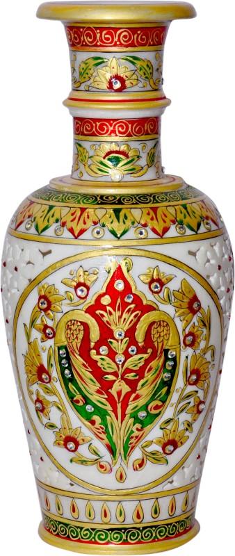 Vaah Marble Stoneware Vase(12 inch, Multicolor)
