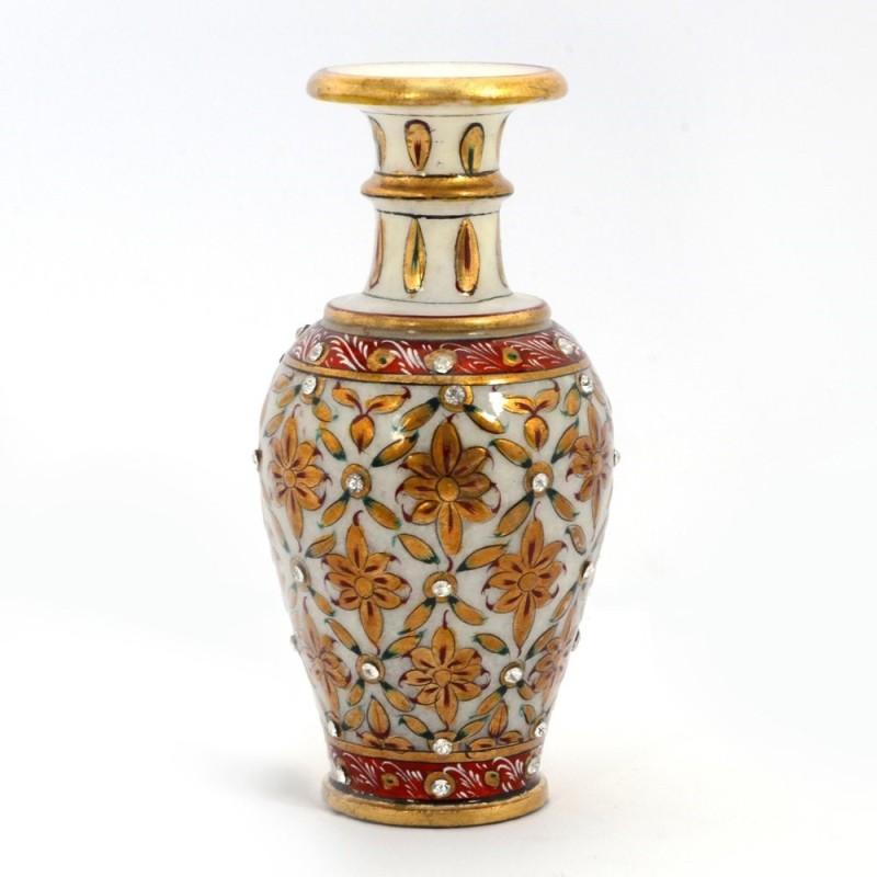 Little India Stoneware Vase(6 inch, Multicolor)