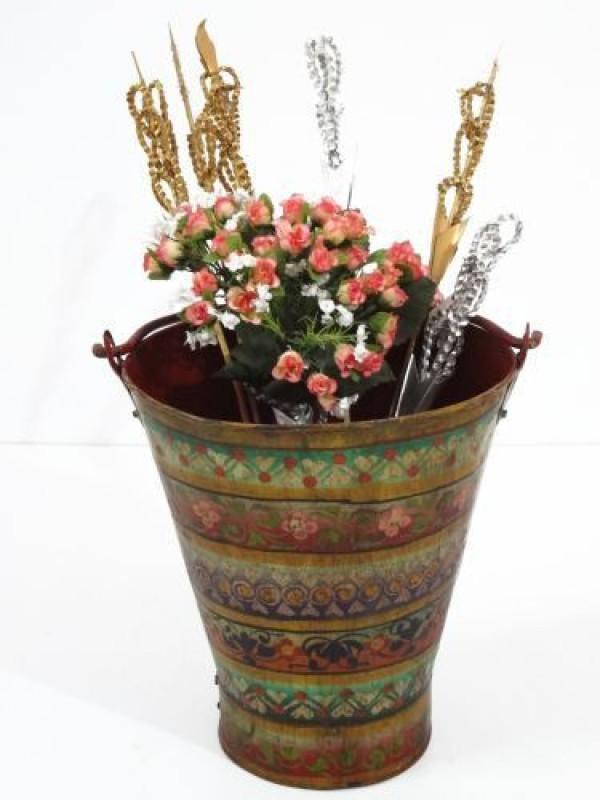 Artlivo Iron Vase(30 cm, Multicolor)